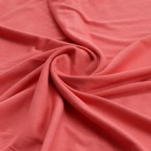 Coral - Plain 100% Cotton Interlock Double Jersey